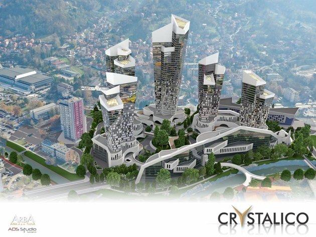 Pet kula kao kristali soli - Kako je zamišljen grandiozni stambeno-poslovni kompleks Crystalico u Tuzli (FOTO)