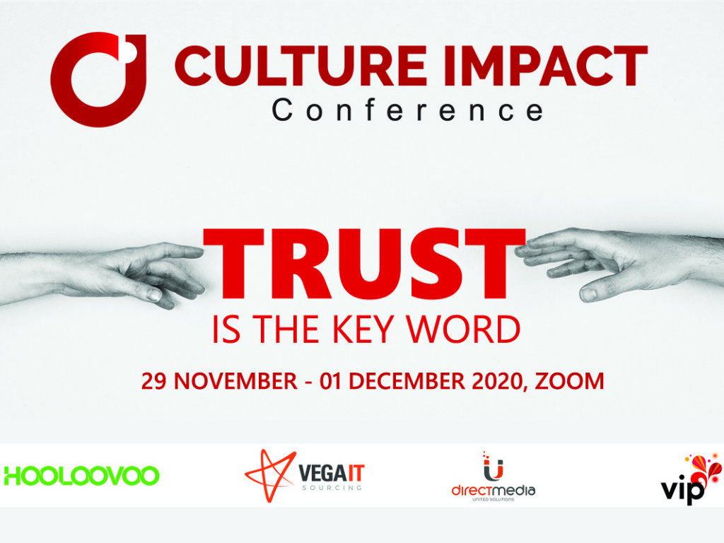 Culture Impact Conference 2020 od 29. novembra do 1. decembra - Rešenja za pad poverenja u organizacijama u regionu