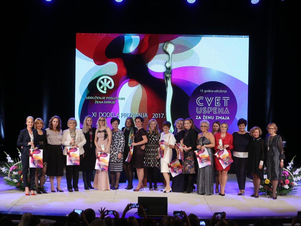 Nagrađeno 9 preduzetnica - Dodeljena priznanja Cvet uspeha za ženu zmaja