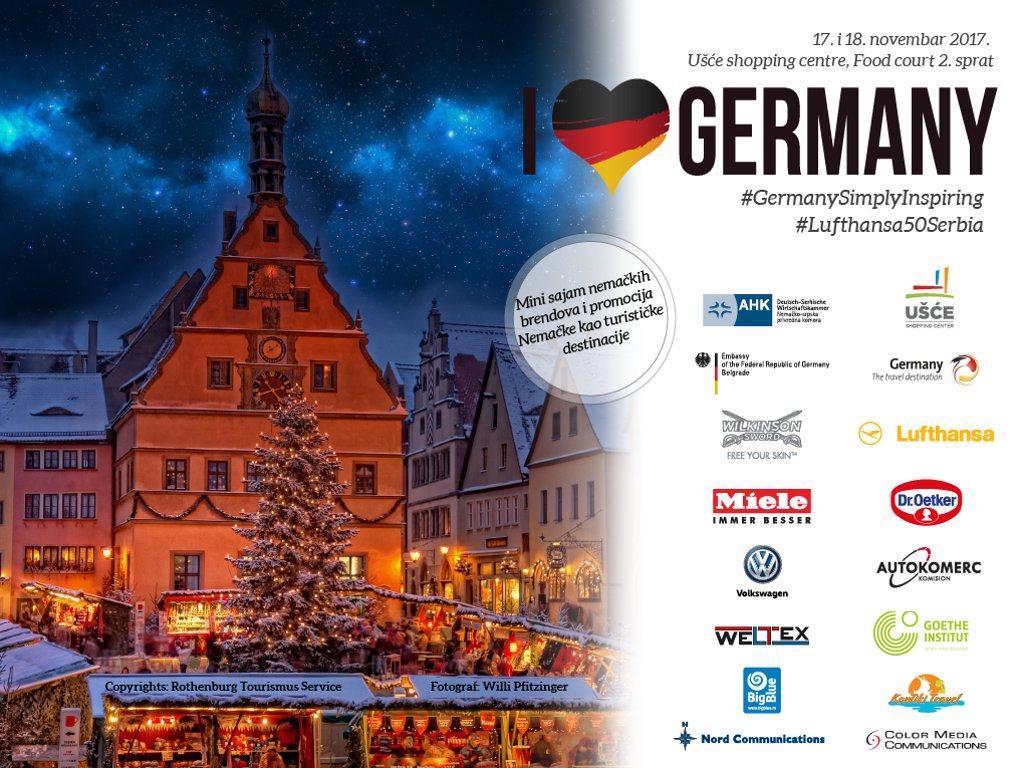 Tourism, culture and economy of Germany on November 17-18 at Usce shopping center