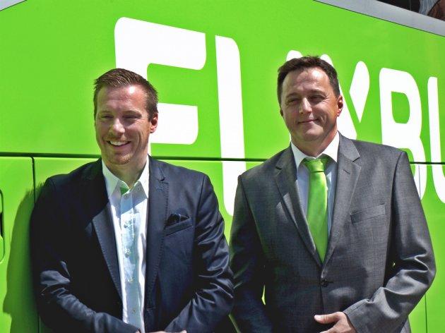 Andre Schwammlein, einder der Gründer von Flixbus, und Dean Cebohin