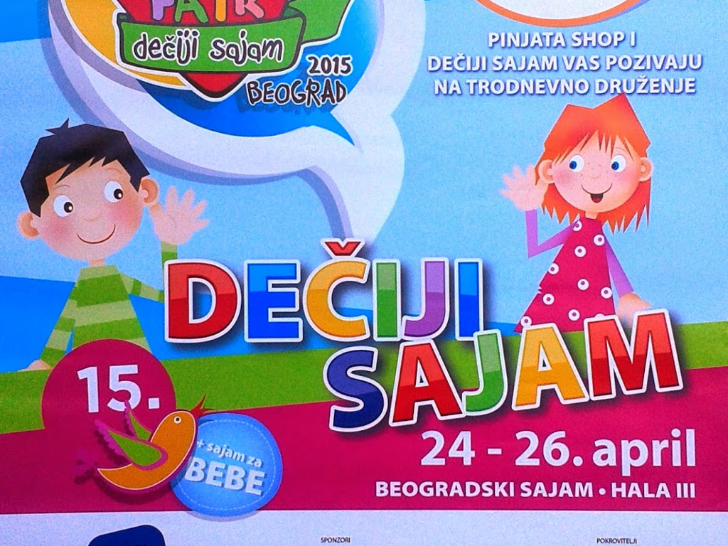 Dečiji sajam od 24. do 26. aprila u Beogradu