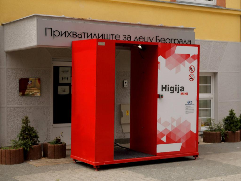 Telekom Srbija obezbedio tunel za dezinfekciju na ulazu u Prihvatilište za decu u Beogradu