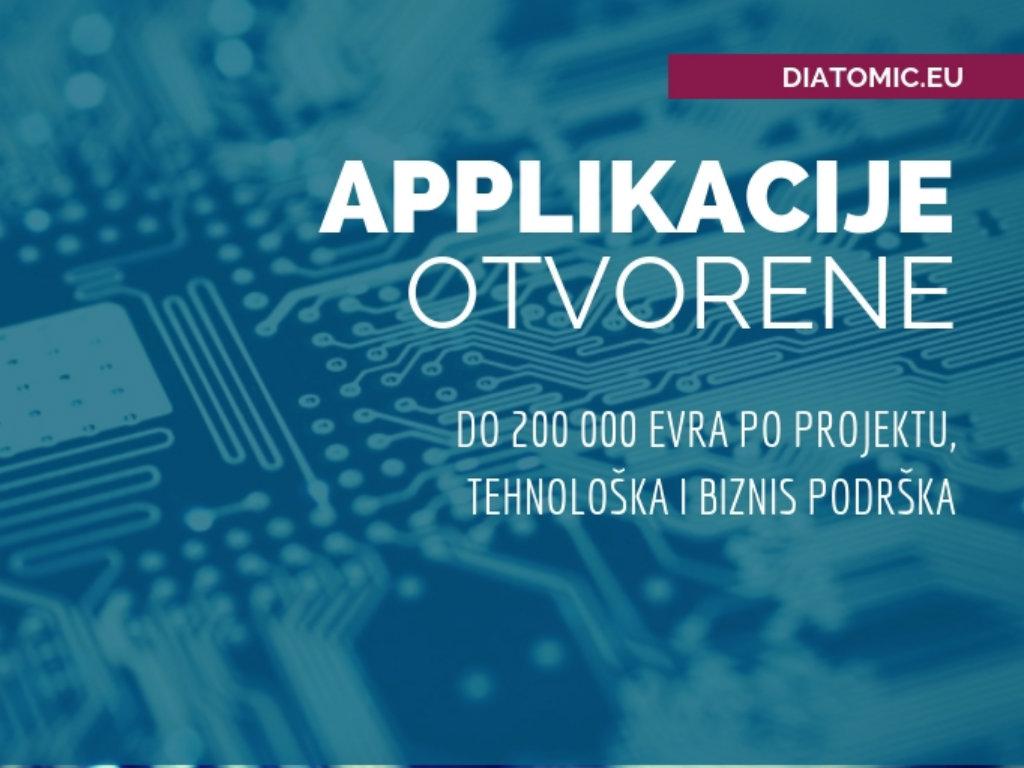 DIATOMIC daje do 200.000 EUR po projektu startapima, MSP i istraživačima