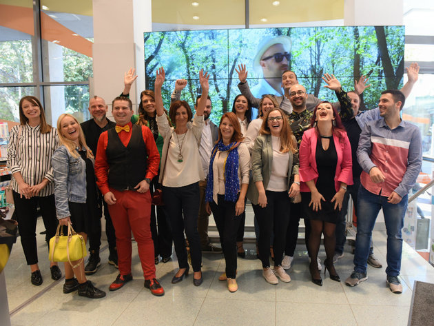 Producers within dm Incubator and Radoje Krajisnik, project coordinator and purchasing manager at dm Srbija