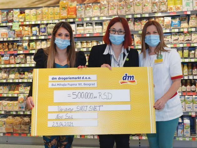 Kompanija dm donirala robu od milion dinara ustanovama u Novom Sadu