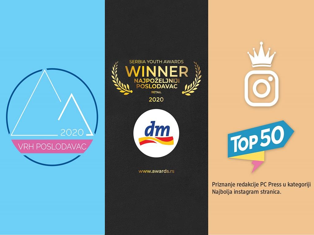 Kompanija dm apsolutni favorit mladih - Priznanje za najpoželjnijeg poslodavca i još tri nagrade od početka godine