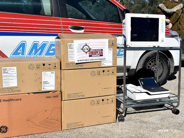 Ambasada SAD donirala medicinsku opremu za četiri zdravstvene ustanove u Crnoj Gori