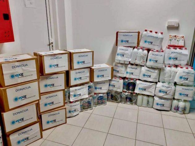 EPCG donirala sanitetsku opremu JPU Đina Vrbica iz Podgorice