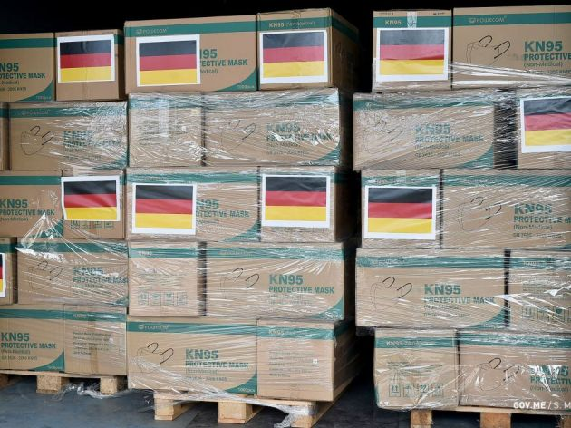 Crna Gora dobila od Njemačke medicinsku zaštitnu opremu vrijednu više od 600.000 EUR