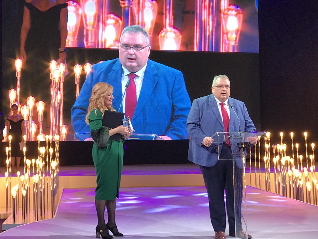 Dragoljub Damjanović na dodeli SAM priznanja