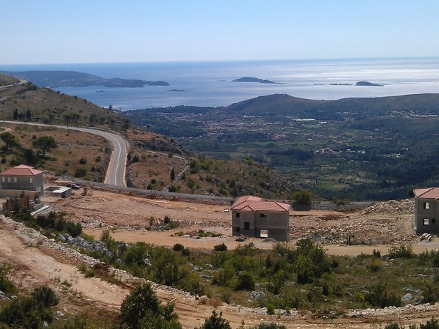 A view from the Dubrovnik heights site