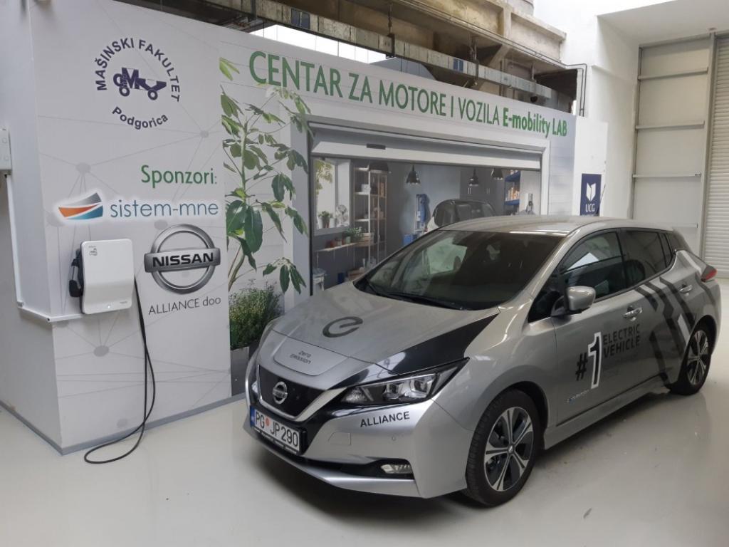 Mašinski fakultet podržava elektrifikaciju transporta u CG - U E-mobility laboratoriji moguće punjenje i testiranje električnih automobila, na krovu instalirani solarni paneli