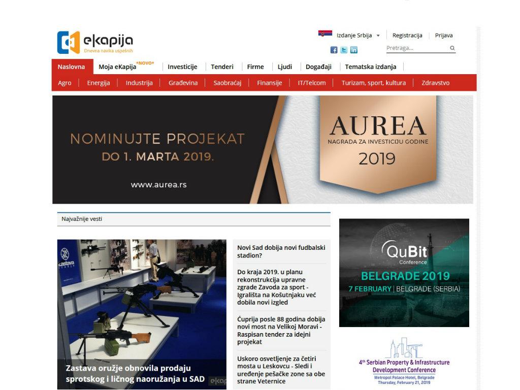 Portalu eKapija nagrada publike za najbolju online stvar na izboru Top 50 za 2018. godinu
