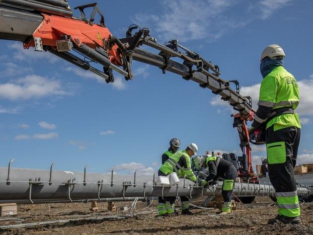 Izgradnja dalekovoda na Islandu na trasi dugoj 122 km
