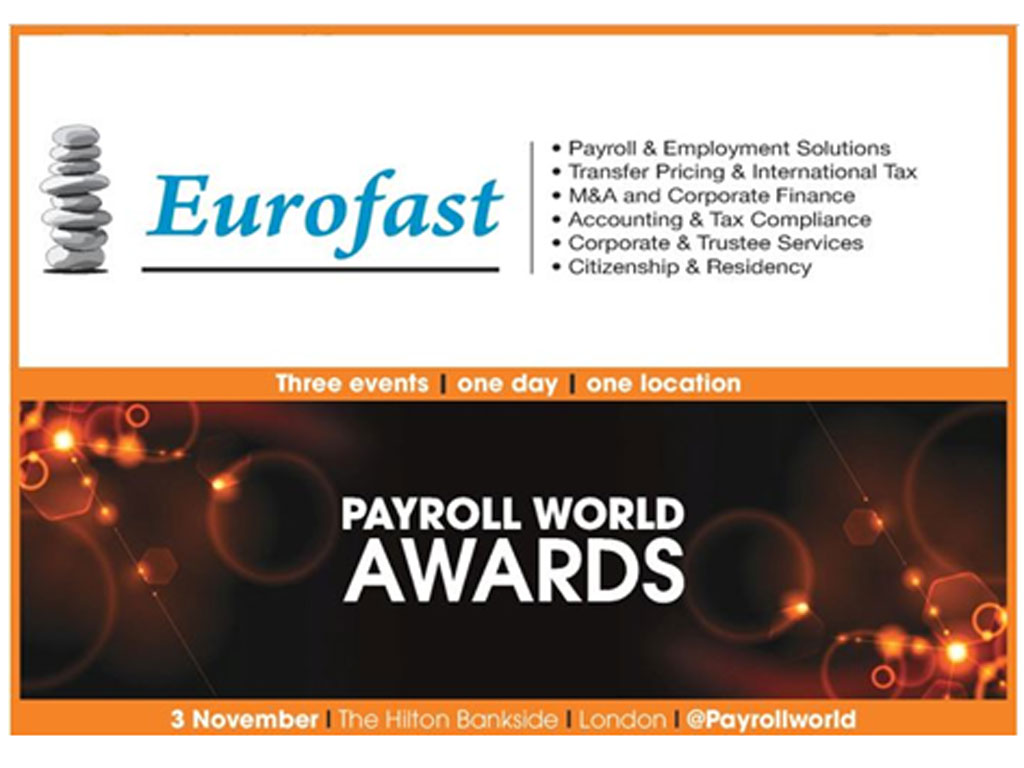 Eurofast nominovan za prestižnu nagradu Payroll World Awards 2016