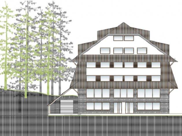 Projekt des künftigen Hotels