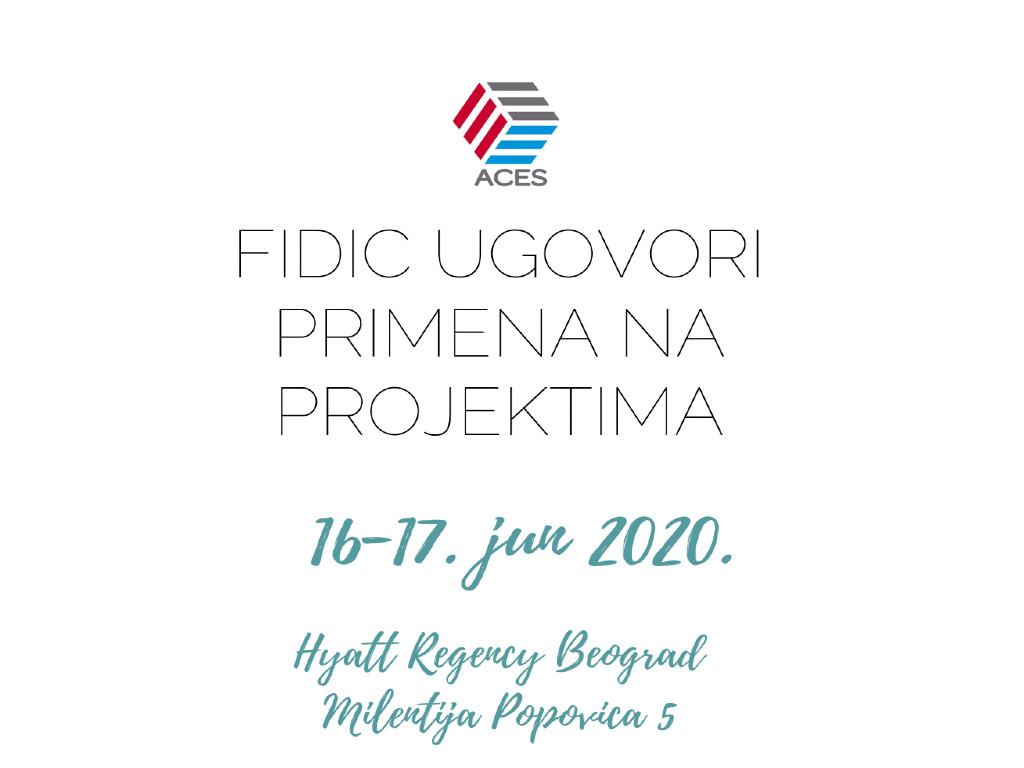 Obuka o FIDIC ugovorima 16. i 17. juna u Beogradu