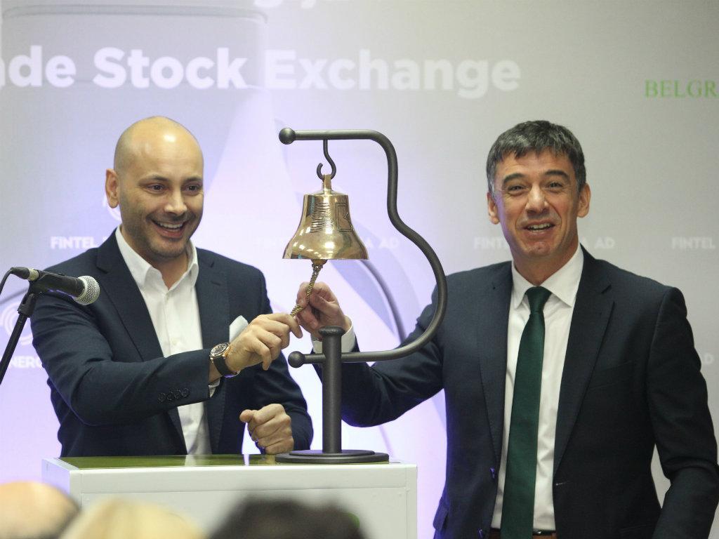 Nakon osamdeset godina čulo se berzansko zvono u Beogradu - Počelo trgovanje akcijama Fintel energije