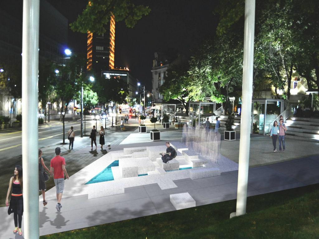 Bliži se završetak radova na fontani na Cvetnom trgu u Beogradu