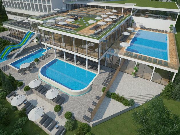 Neue Hotelanlage in Vrdnik - Thermen mit 10 Pools im Fruska-Gora-Gebirge