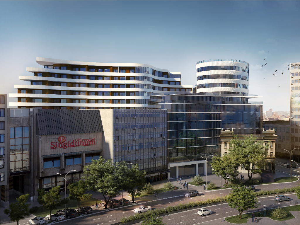 Galens builds residential and business facility in downtown Novi Sad - First tenants expected in late 2018 (PHOTO)