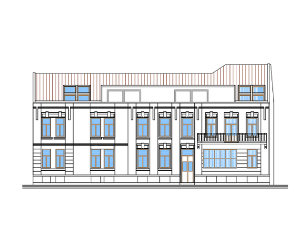 Jugozapadna fasada novoprojektovanog rešenja