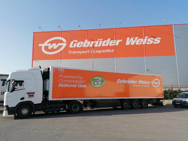 Gebruder Weiss prevozi robu kamionom na gas