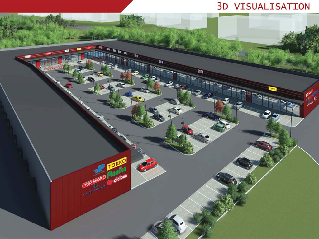 New retail park in Gornji Milanovac as early as May 2019 – Shop Park to take up 7,000 m2 with at least 28 stores