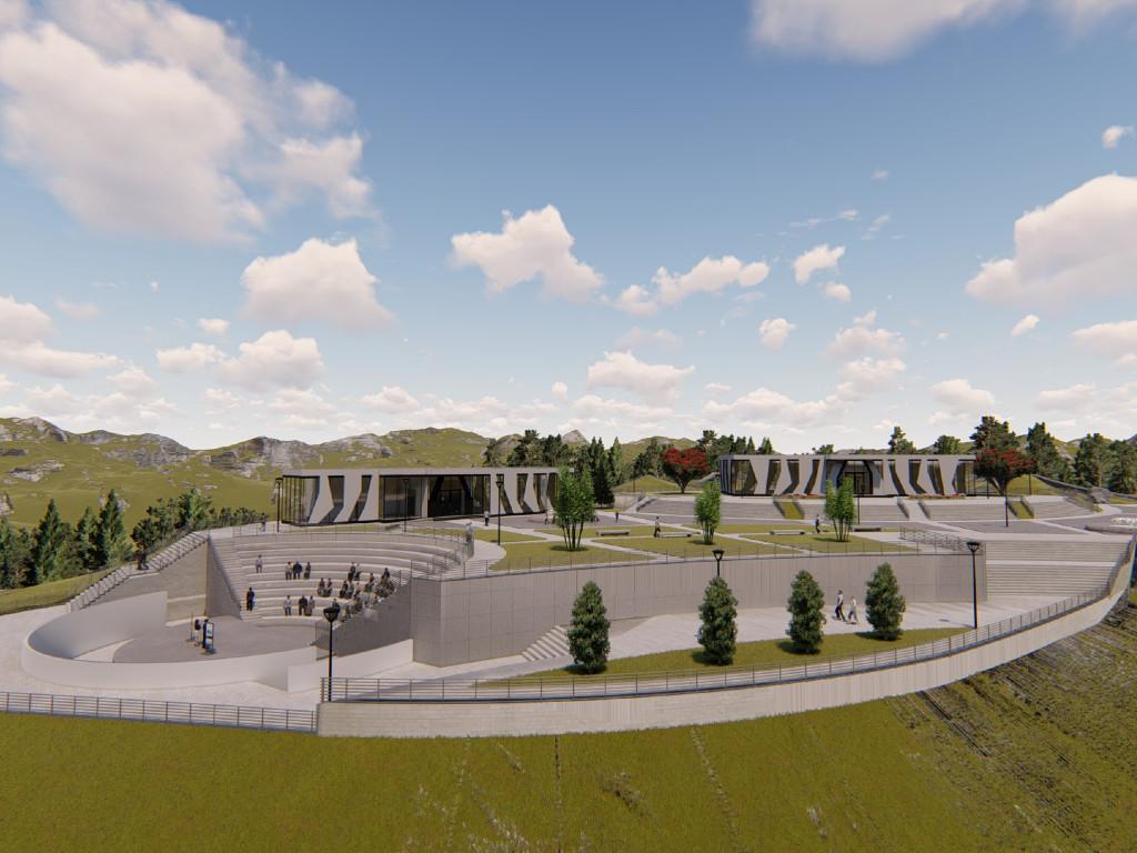 Tutin dobija turistički kompleks Gradac - Na više od 19.000 m2 gradiće se muzej, amfiteatar i restoran sa vidikovcima (FOTO)