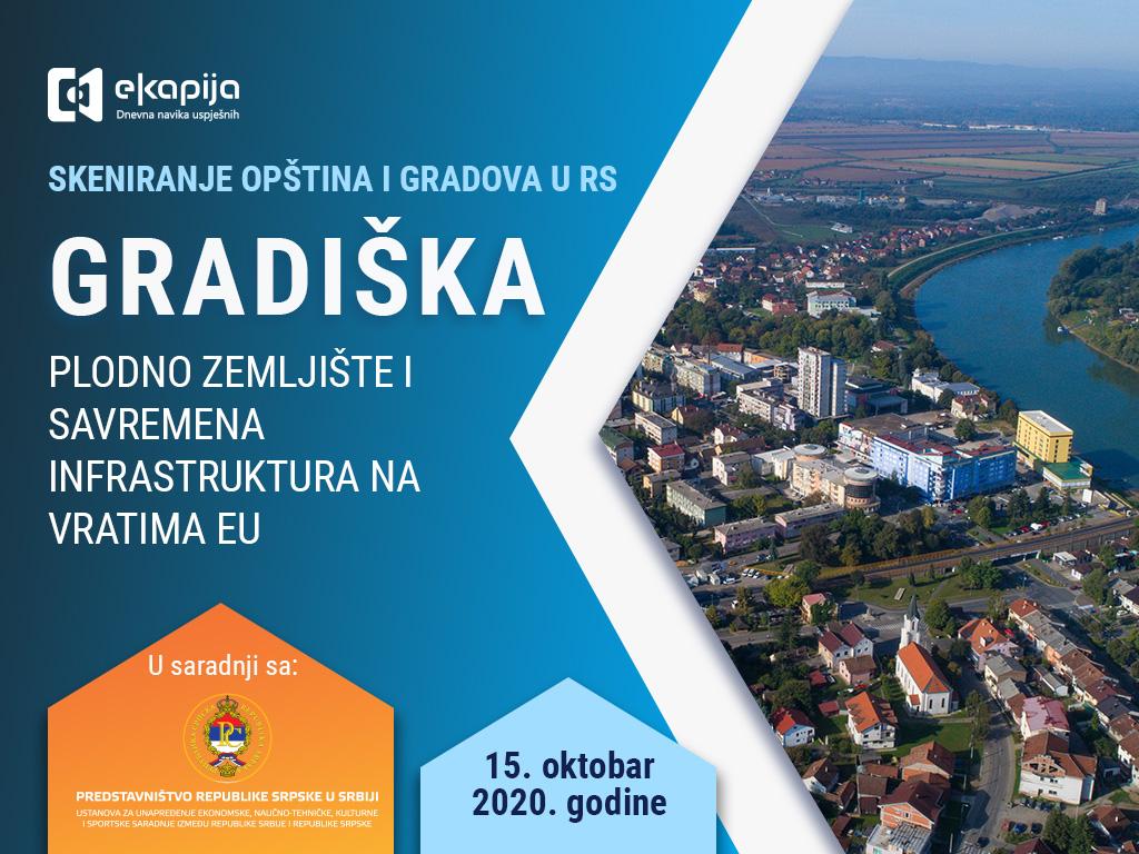 Plodno zemljište i savremena infrastruktura na vratima EU - Gradiška u projektu Skeniranje opština i gradova RS