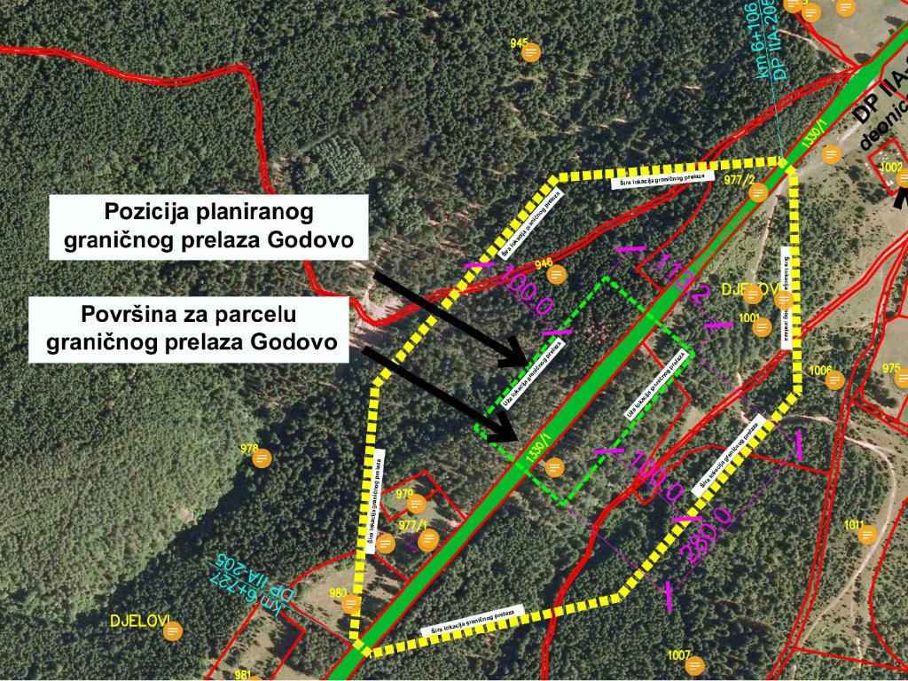 U pripremi izgradnja zajedničkog graničnog prelaza Godovo između Srbije i Crne Gore