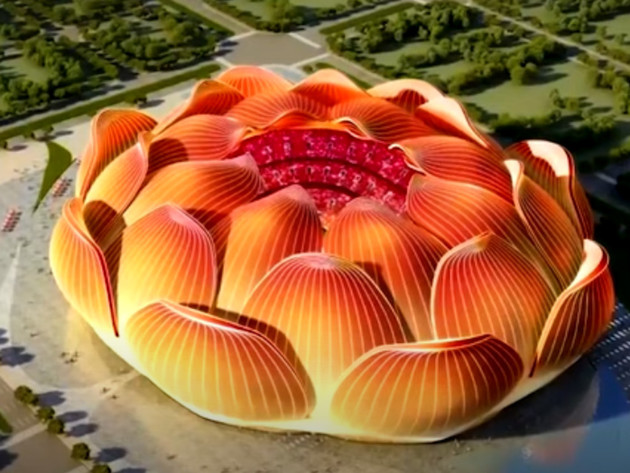 China Building Supermodern Football Stadium with 100,000 Seats