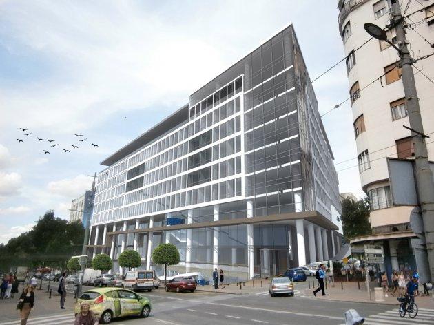 The future Hilton hotel in Belgrade