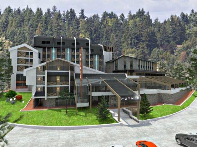 So soll das Hotel Putnik nach dem Umbau aussehen