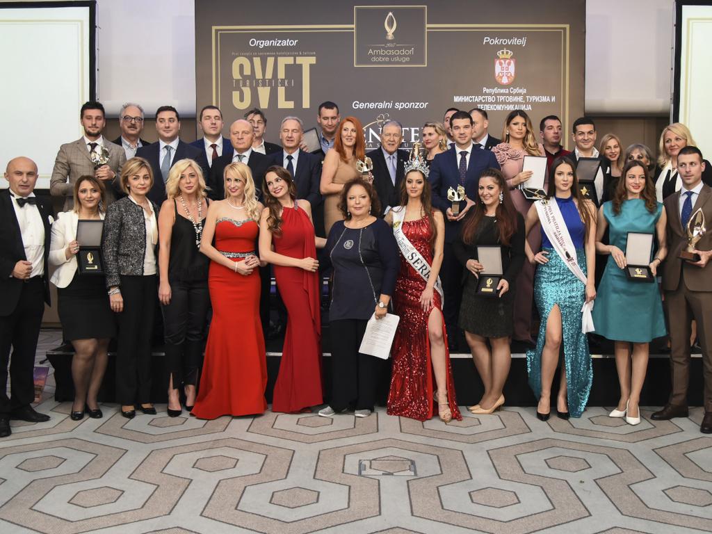 Izabrani Ambasadori dobre usluge - Časopis Turistički Svet dodelio priznanja za 2017.