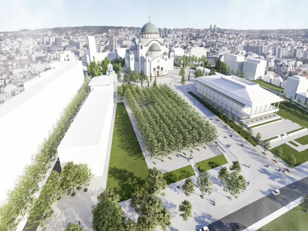 Park in front of Saint Sava Church to be fully reconstructed this autumn