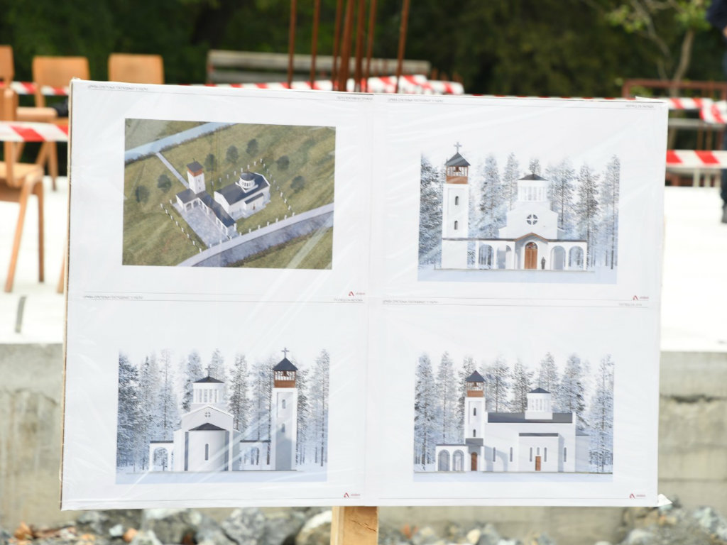 Osvećen temelj za novi hram posvećen Sretenju Gospodnjem u Ušću