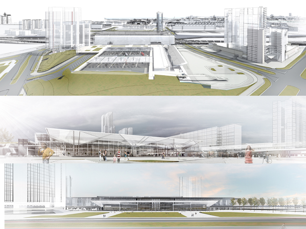 Bus station with 15 arrival and 58 departure terminals, railway station with 8 platforms - See how future complex in New Belgrade's Block 42 will look like