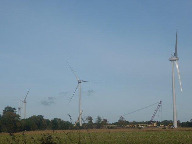 Einer der Windparks von IEL in Frankreich