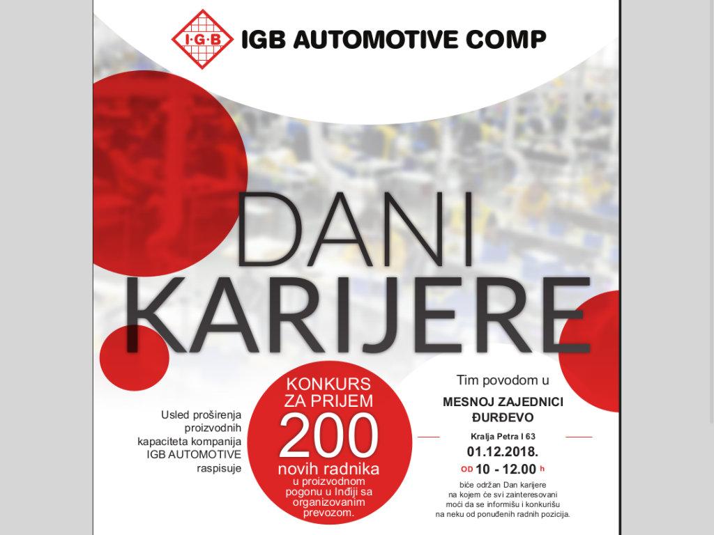 IGB Automotive zapošljava još 200 ljudi u pogonu u Inđiji