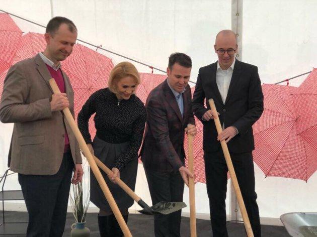 Grundsteinlegung für das neue Einrichtungshaus von IKEA in Bukarest