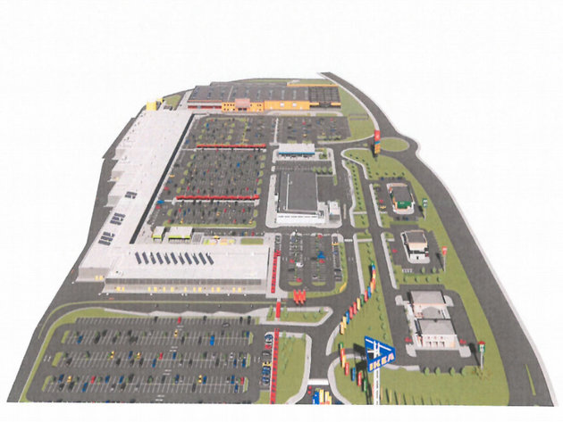 Prikaz planiranog trgovinskog kompleksa Ikea Retail park Beograd
