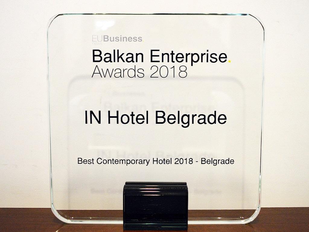 IN Hotel Beograd dobio priznanje Best Contemporary Hotel za 2018.