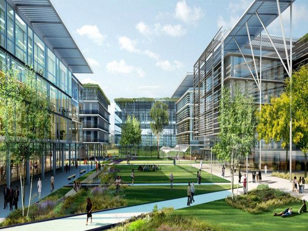 Projektovani izgled industrijskog parka u Borči