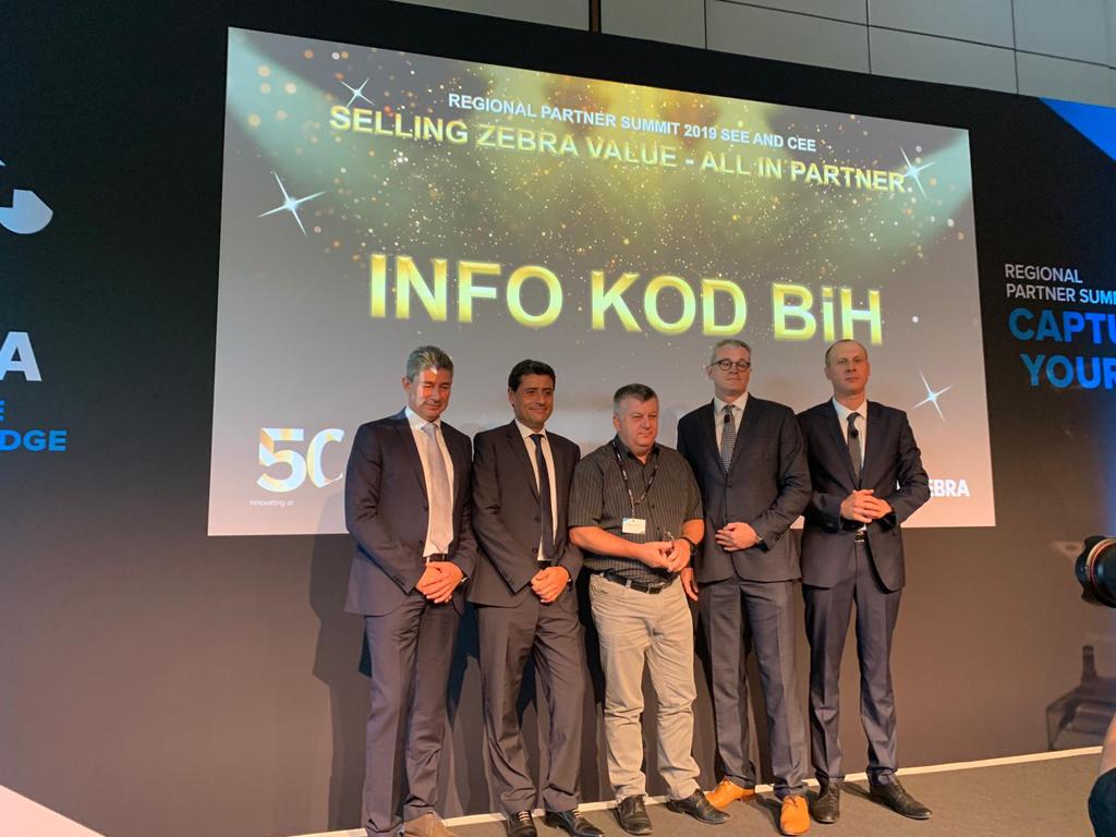 Info-Kod dobio priznanje za partnera godine kompanije Zebra Technologies
