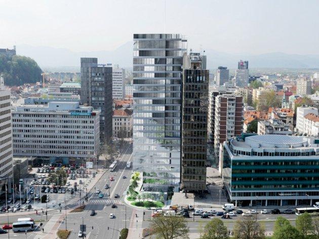 Future look of InterContinental hotel in Ljubljana
