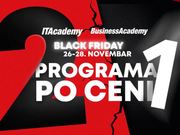 Black Friday na ITAcademy i BusinessAcademy - 2 programa po ceni jednog