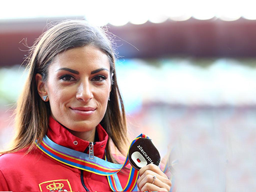 Serbische Weitspringerin Ivana Spanovic gewinnt Goldmedaille an der Hallen-Weltmeisterschaften in Birmingham