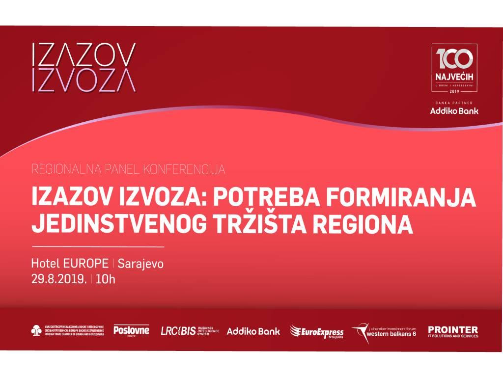 Regionalna panel konferencija Izazov izvoza 29. avgusta u Sarajevu